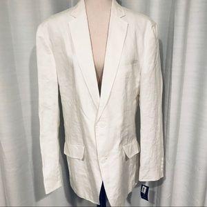NWT INC linen blend long blazer size L